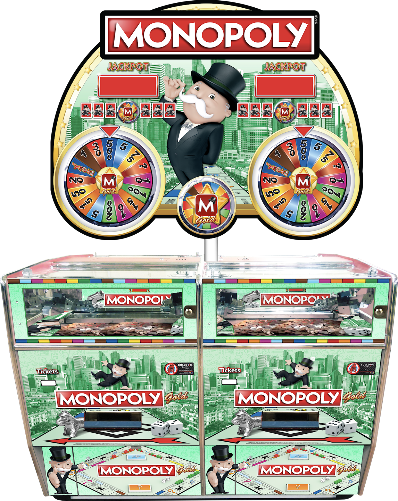 Monopoly Gold 4 Player Pusher